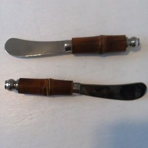 Other - Wooden Handle Spreader Knives Set of 2